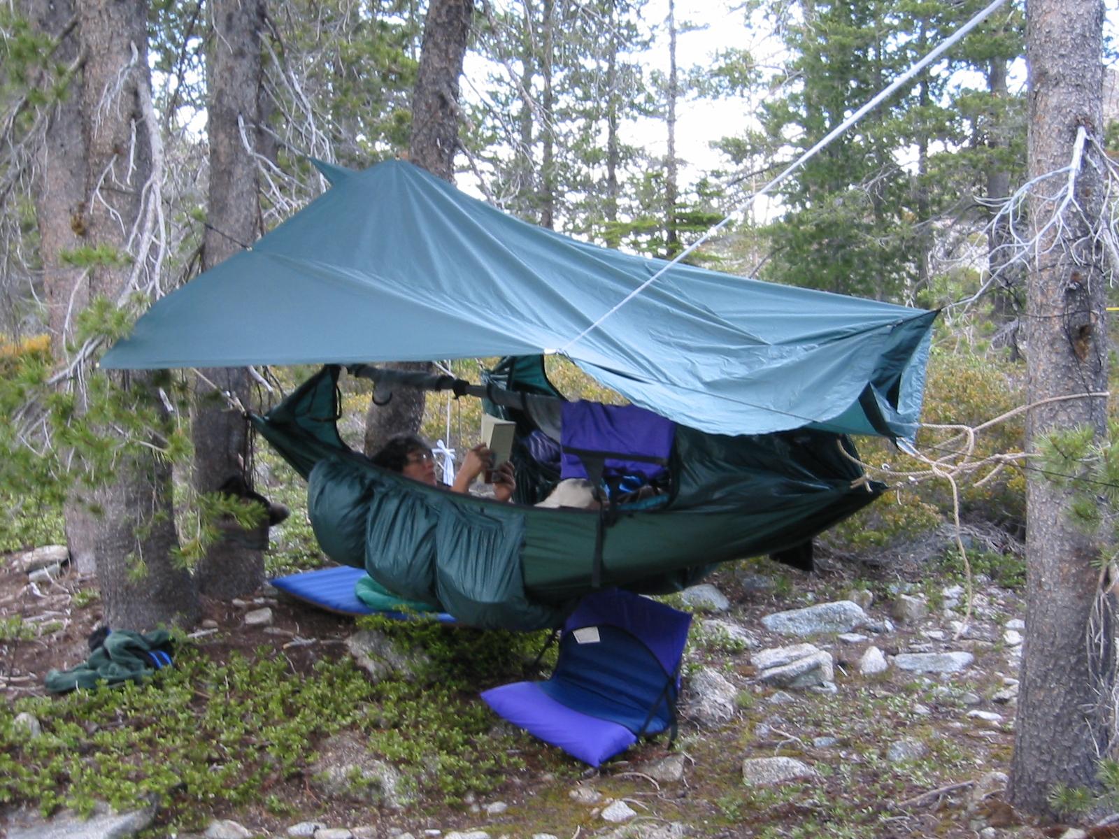 sharing and tarp pin diy hammock setup ultralight hiking flickr with set camping photo survival up